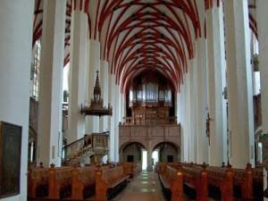 bach y la musica iglesia de Santo Thomas interior
