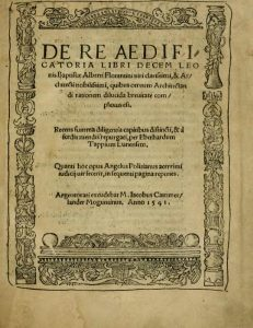pall portada de Alberti de 1542 de aedificatoria