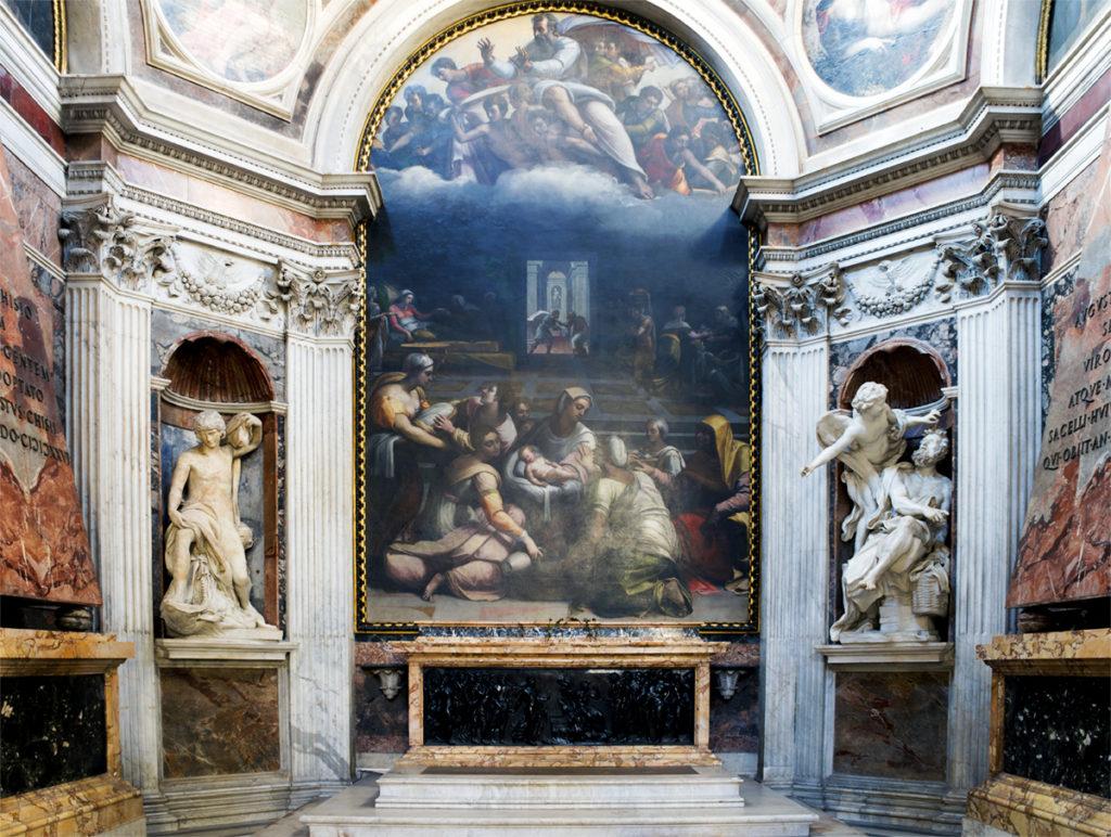 La imagen tiene un atributo ALT vacío; su nombre de archivo es santa_maria_del_popolo_-_cappella_chigi-1024x772.jpg