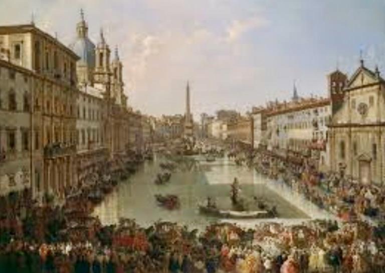 La imagen tiene un atributo ALT vacío; su nombre de archivo es 9-plaza-Navona-inundada.jpg